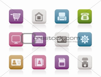 Business, office and website icons