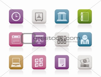 Business, finance and office icons