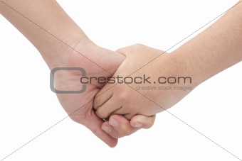 Close-up Holding Hands in love couple