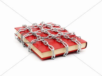 Censorship concept with books