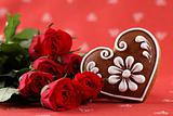 Gingerbread heart and roses