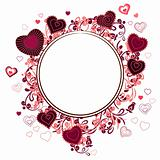 Blank frame with small hearts