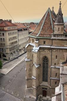 Cathedral Saint Pierre in Geneva, Switzerland