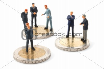 business man and money isolated