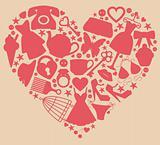 Girl's heart