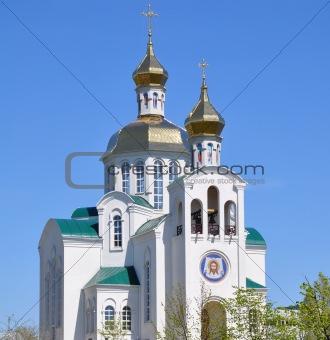 Beautiful St. Nikolas Cathedral in Kiev history taken in Ukraine