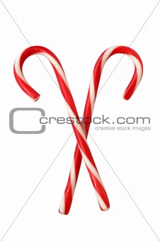 Christmas colourful lollipops isolated on the white background