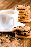 cup of herbal tea and some fresh cookies