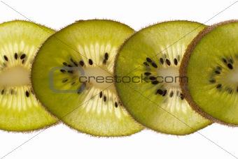 Close up of kiwi slices