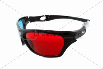 3d glasses from side