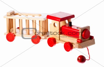 Funky old retro wooden train