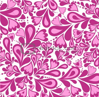 Background pink splash pattern and heart. Vector