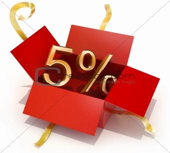 Five Percent Discount Gift Box