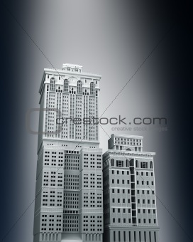 Detailed urban city concept