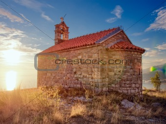 Ancient church on the top of mountain