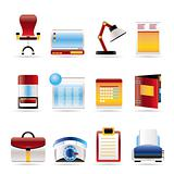 Realistic Business, office and firm icons