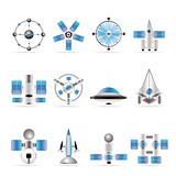 different kinds of future spacecraft icons