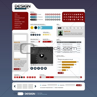 Website Web Design Elements Template