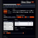 Website Web Design Elements Dark Vector