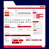 Website Web Design Elements Red Theme