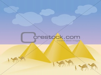 Egypt and pyramid landscape