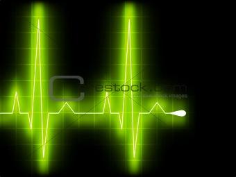 Green heart beat. Ekg graph. EPS 8