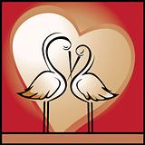 Love, background with storks