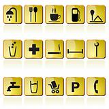 petrol station icons
