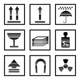 shipping Box and Signs icons