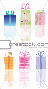abstract present and gift icons