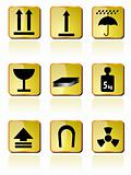 shipping Box Icon and Signs icons