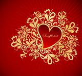Heart To The St.Valentine. Vector
