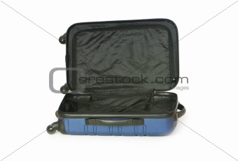 Blue case isolated on the white background