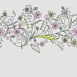 Seamless floral pattern, vector