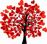 Valentines tree, vector