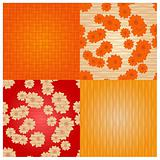 vector seamless backgrounds with flowers