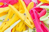 Pegs of various colors arranged as background