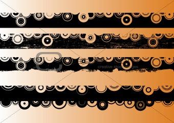 4 Black Grunge Strips 2