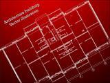 architecture blueprint. vector