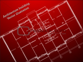 architecture blueprint. vector