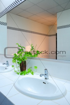 Bathroom at office