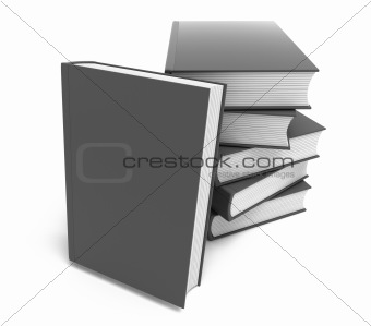 New book presentation. Clean cover. Isolated on white