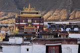 Landmarks of a Tibetan lamasery