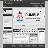 Web Website Element Design Template Grey Dark Vector
