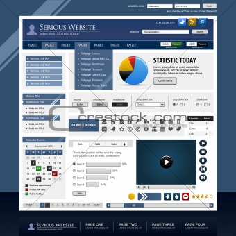 Web Design Template Element Frame