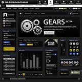Web Design Element Frame Dark Black Template