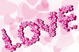 Valentine Background with caption love