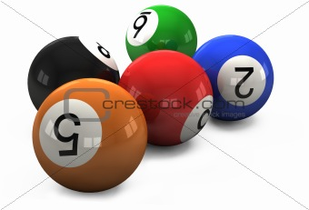 billiard balls out of American billiards