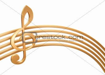 3d golden stave