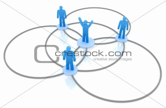 Business Network Concept. Isolated on white 3d concept.